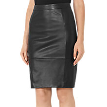 Buy Reiss Olivia Ponte Skirt, Black Online at johnlewis.com