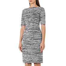 Buy Reiss Harry Fitted Dress, Black/Off White Online at johnlewis.com