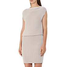 Buy Reiss Simone Ripple Stitch Dress, Nude Online at johnlewis.com