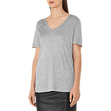 Buy Reiss Evie Scoop Neck Top, Grey Marl Online at johnlewis.com