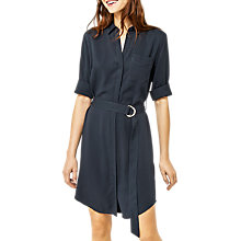 Buy Warehouse Casual Shirt Dress, Navy Online at johnlewis.com