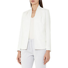 Buy Reiss Sancia Pleated Shoulder Jacket, Off White Online at johnlewis.com