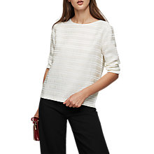 Buy Reiss Mandy Pleated Long Sleeve Top Online at johnlewis.com