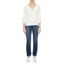 Buy French Connection Kathryn Crinkle Blouse, Winter White Online at johnlewis.com