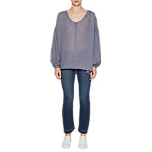 Buy French Connection Betsy Draped Top, Indigo Online at johnlewis.com