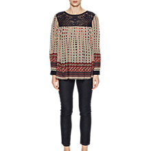 Buy French Connection Lace Mix Smock Top, Multi Online at johnlewis.com