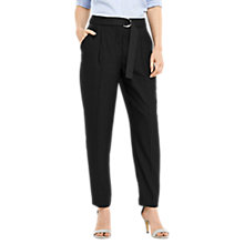 Buy Oasis Luxe Utility Trousers, Black Online at johnlewis.com