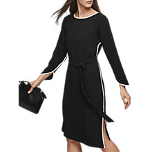 Buy Reiss Agnes Contrast Piping Detail Dress, Black/White Online at johnlewis.com