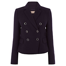 Buy Oasis Long Sleeve Button Front Blazer, Navy Online at johnlewis.com