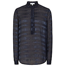 Buy Reiss Iona Texture Blouse, Cadet Online at johnlewis.com
