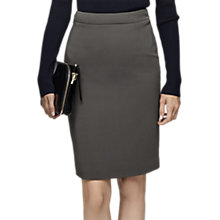 Buy Reiss Lory High Waist Pencil Skirt, Grey Green Online at johnlewis.com