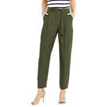 Buy Oasis Luxe Utility Trousers, Khaki Online at johnlewis.com