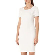 Buy Reiss Skyler Knitted Dress, Off White Online at johnlewis.com