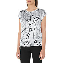 Buy Reiss Jess Silk Front T-Shirt, Multi/White Online at johnlewis.com