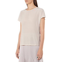Buy Reiss Tia Silk Front T-Shirt, Soft Yarn Online at johnlewis.com
