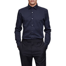 Buy Reiss Control Long Sleeve Shirt, Navy Online at johnlewis.com