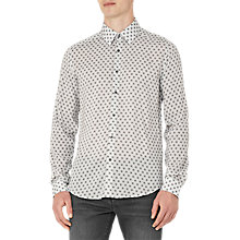 Buy Reiss Persian Geometric Print Slim Fit Shirt, White Online at johnlewis.com