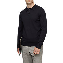 Buy Reiss Mansion Merino Wool Polo Shirt, Navy Online at johnlewis.com
