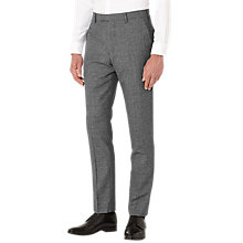 Buy Reiss Bronson Salt and Pepper Wool Slim Fit Suit Trousers, Charcoal Online at johnlewis.com