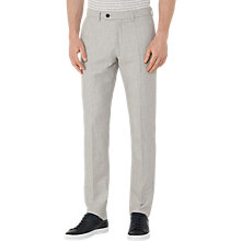 Buy Reiss Display Herringbone Slim Fit Trousers, Soft Grey Online at johnlewis.com