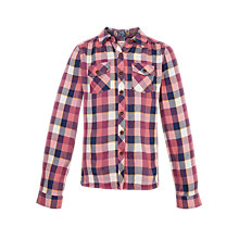 Buy Fat Face Girls' Beth Long Sleeve Blouse, Rose Online at johnlewis.com