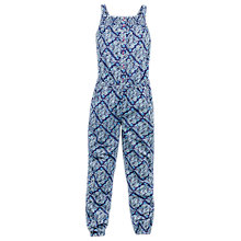 Buy Fat Face Girls' Tile Print Jumpsuit, Navy Online at johnlewis.com
