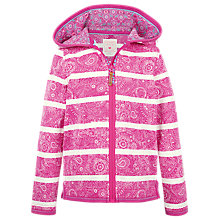 Buy Fat Face Girls' Croyde Stripe Zip Through Hoodie Online at johnlewis.com