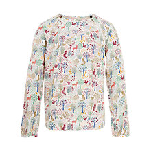 Buy Fat Face Girls' Long Sleeved Woodland Blouse, Natural Online at johnlewis.com