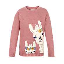 Buy Fat Face Girls' Crew Neck Jumper, Rose Online at johnlewis.com