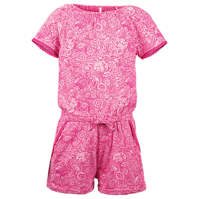 Product photo of Fat face girls paisley jersey playsuit fuschia