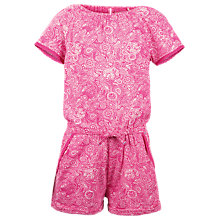 Buy Fat Face Girls' Paisley Jersey Playsuit, Fuschia Online at johnlewis.com