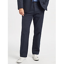 Buy John Lewis Darcy Yarn Dyed Trousers, Navy Online at johnlewis.com
