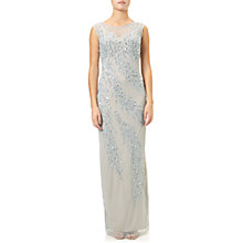 Buy Adrianna Papell Cap Sleeve Beaded Gown, Blue Heather/Silver Online at johnlewis.com