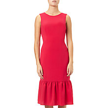 Buy Adrianna Papell Textured Drop Waist Crepe Dress, Lipstick Red Online at johnlewis.com