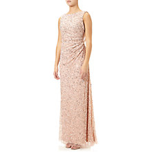 Buy Adrianna Papell Cowl Drape Beaded Gown, Blush Online at johnlewis.com