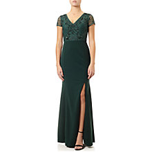 Buy Adrianna Papell Jersey Beaded Gown, Emerald Online at johnlewis.com