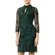 Buy Adrianna Papell Grid Floral Dress, Emerald Online at johnlewis.com