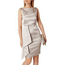 Buy Karen Millen Satin Dress, Neutral Online at johnlewis.com