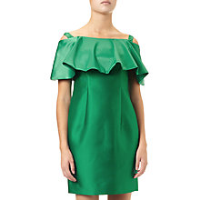 Buy Adrianna Papell Flounce Dress, Dusty Emerald Online at johnlewis.com
