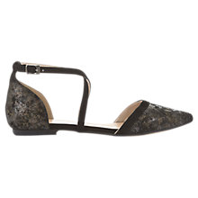 Buy Mint Velvet Evelyn Cross Strap Two Part Pumps, Grey Online at johnlewis.com