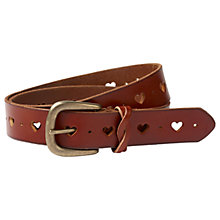 Buy Fat Face Ella Heart Leather Belt, Tan Online at johnlewis.com