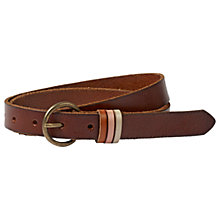 Buy Fat Face Keeper Leather Belt, Chocolate Online at johnlewis.com