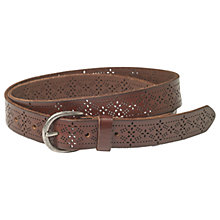 Buy Fat Face Grace Laser Cut Out Leather Belt, Chocolate Online at johnlewis.com