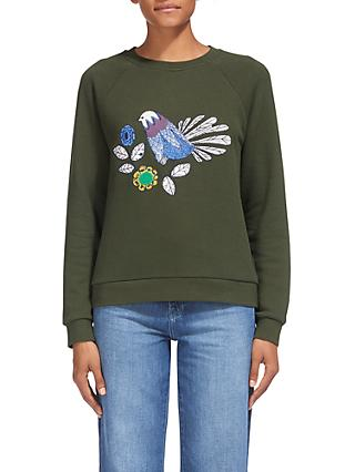 c9c62c52ec030 Whistles Folk Embroidery Logo Sweatshirt