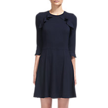 Buy Whistles Fluted Jersey A-Line Dress, Navy Online at johnlewis.com