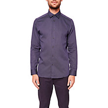 Buy Ted Baker Senne Long Sleeve Shirt, Navy Online at johnlewis.com
