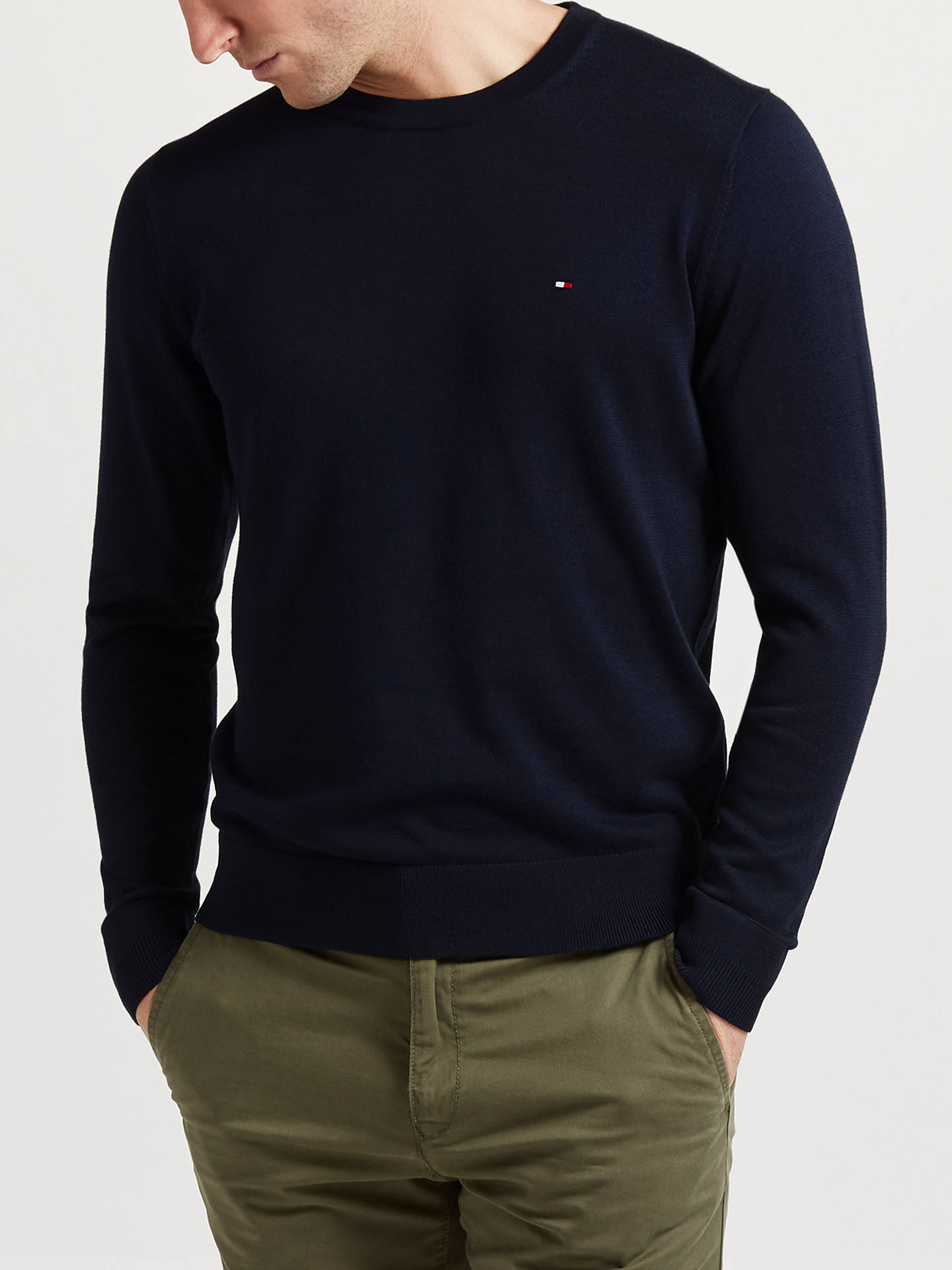 1c4f66011e8fd Tommy Hilfiger Cotton Silk Jumper at John Lewis   Partners