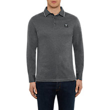 Buy Hackett London Aston Martin Racing Long Sleeve Jersey Polo Top, Charcoal Online at johnlewis.com