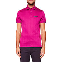 Buy Ted Baker Square Polo Shirt, Fuchsia Online at johnlewis.com
