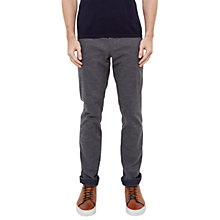 Buy Ted Baker Clasmay Classic Fit textured Trousers, Grey Online at johnlewis.com